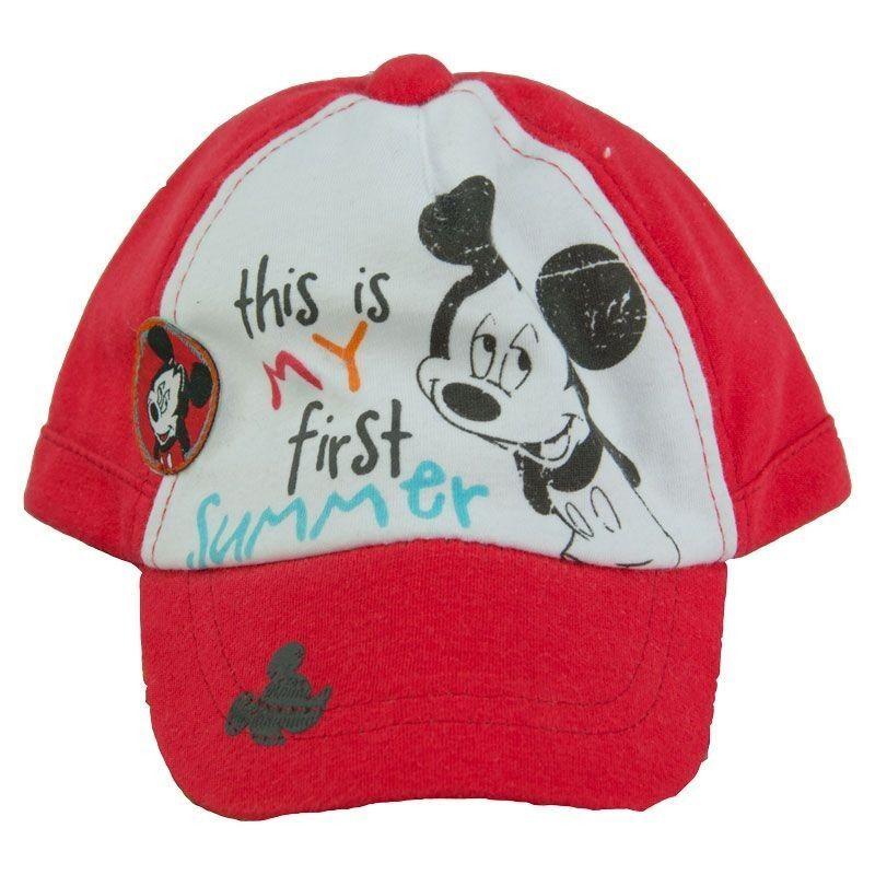 Καπέλο Jockey Mickey 6-12μ Κόκκινο