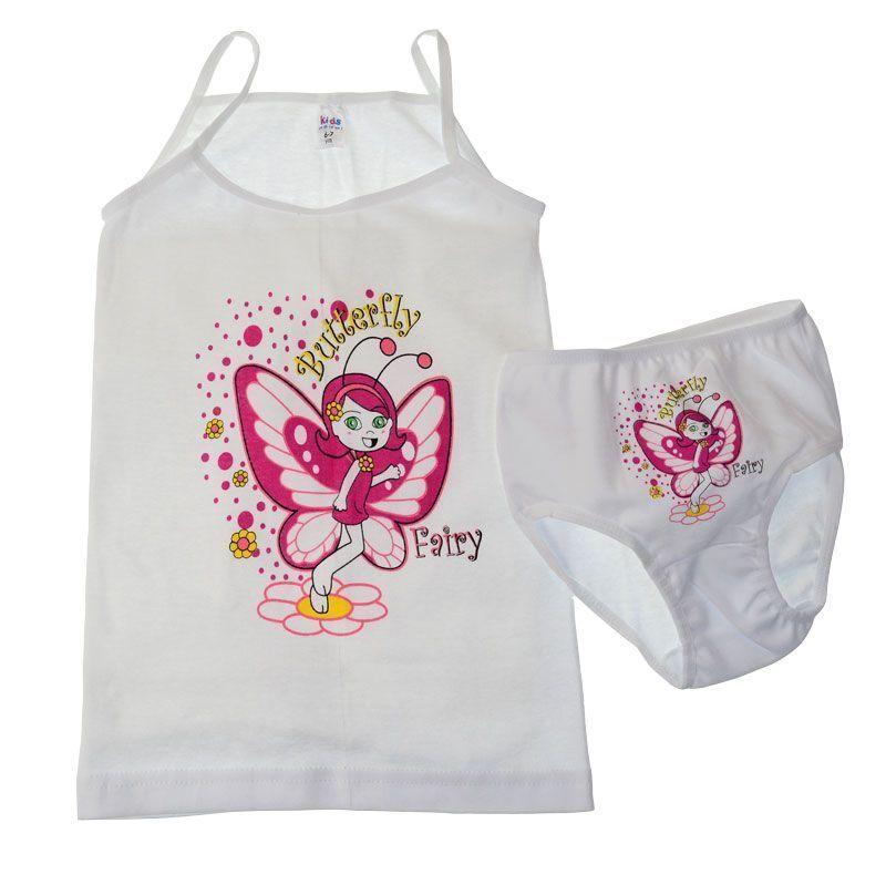 Σετ Εσώρουχα Κορίτσι Fairy 0-7 Λευκό