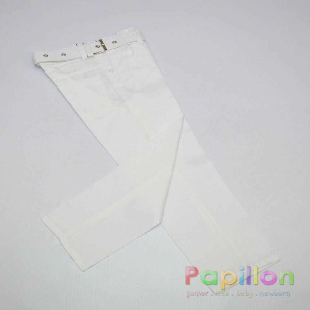 Παντελόνι λευκό καπαρντίνα 5-13.