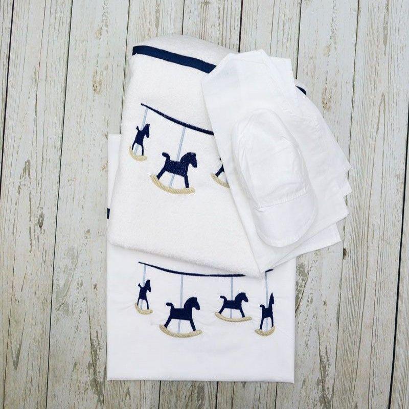 Σετ Λαδόπανα Papillon Collection 1504 Blue horses