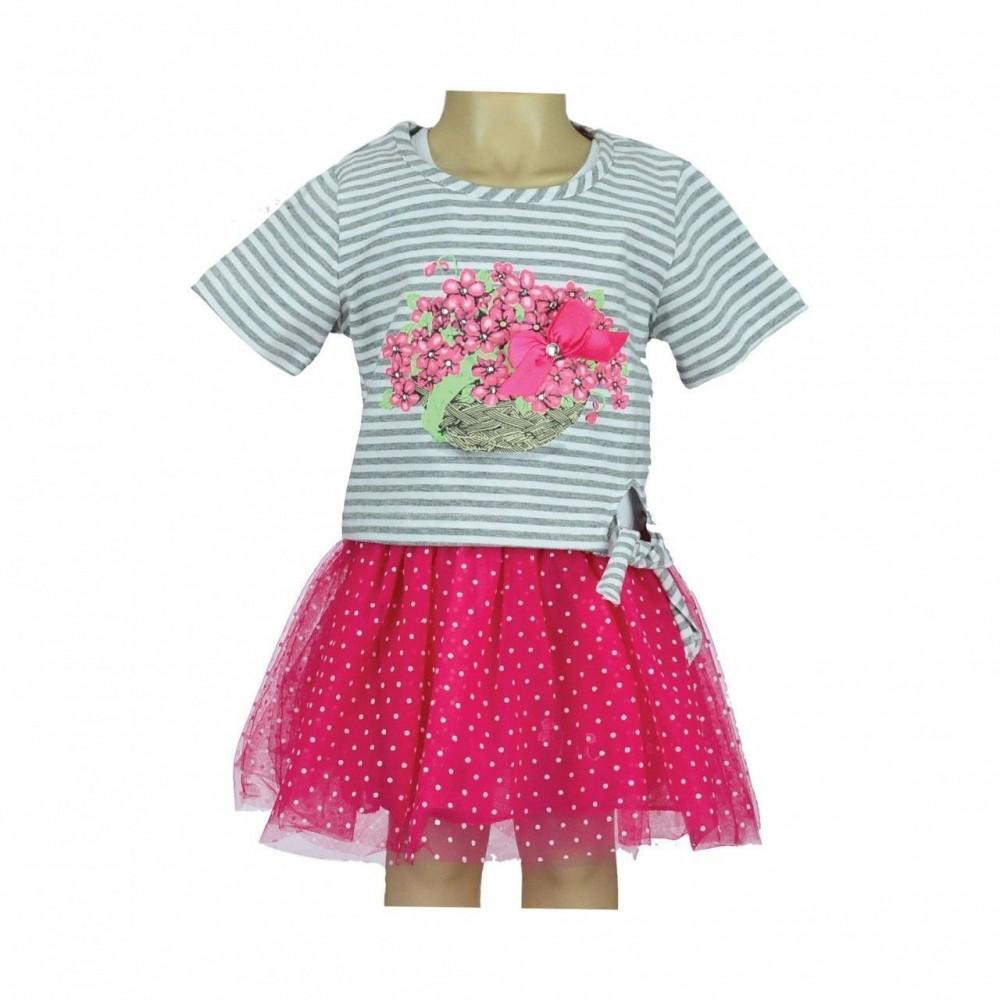 Παιδικό Φόρεμα Εβίτα Flower-Basket 6-18μ.