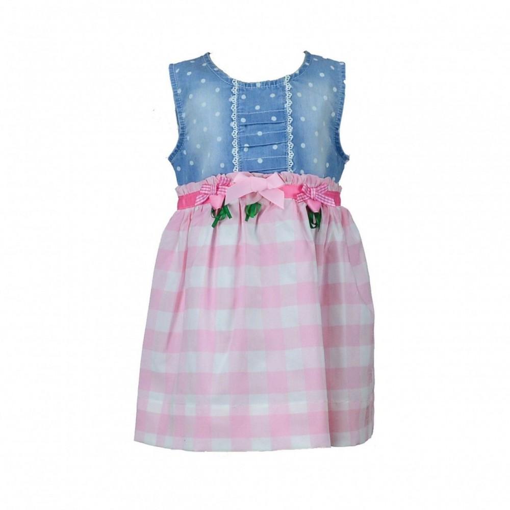 Παιδικό Φόρεμα Εβίτα Pink-Belt 6-18μ.