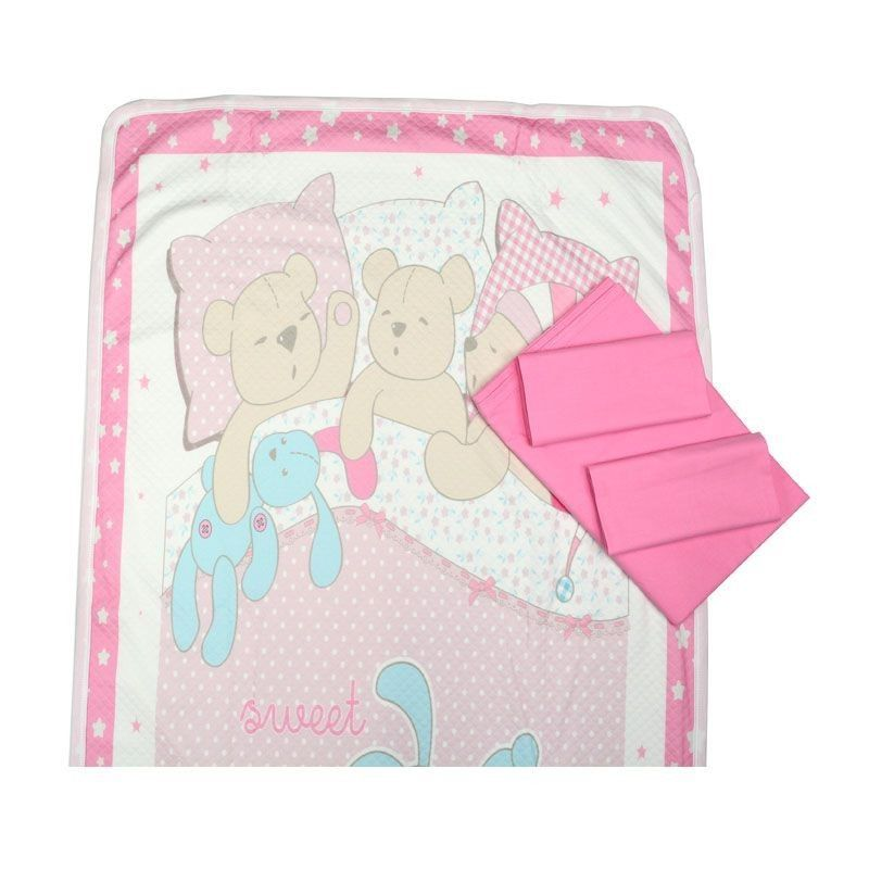 Σετ Κρεβατιού 2089 Sweet Family Pink
