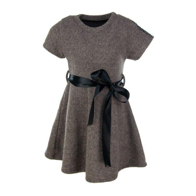 Ιταλικό Φόρεμα 082 Καφέ (4-14 ετών)