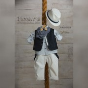Κοστούμι Piccolino Sebastian white 19s01