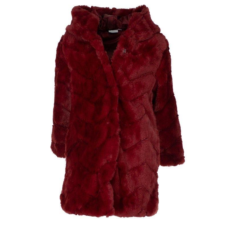 Γουνινο παλτό εβίτα 199164 μπορντό (6-16 ετών)
