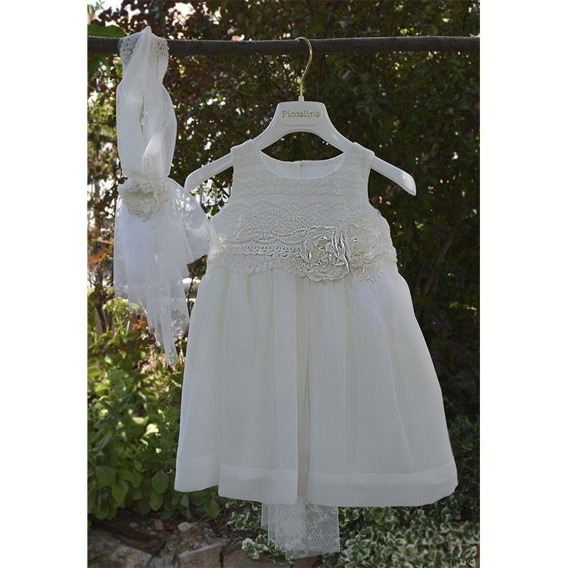 Φόρεμα Βάπτισης Piccolino Belinda 19f38 ivory