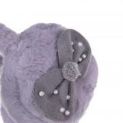 Αυτάκια γούνινα φιογκάκι 9100-01