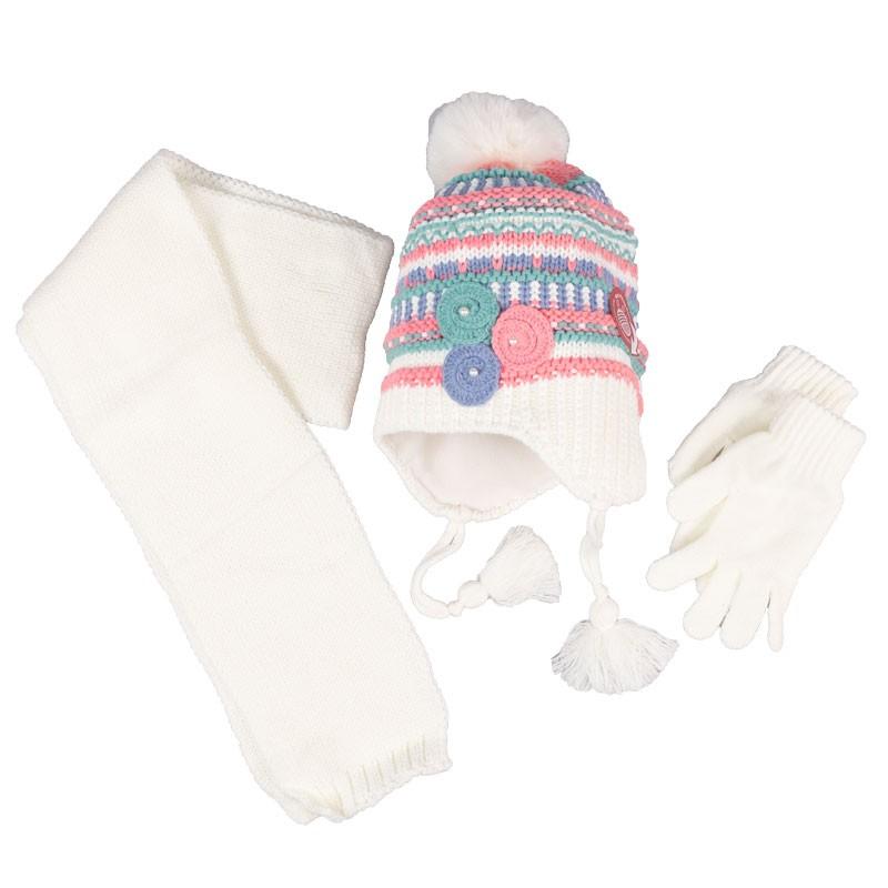 Παιδικο σετ κασκολ,σκουφάκι,γάντια 9943 (4-8 ετών)