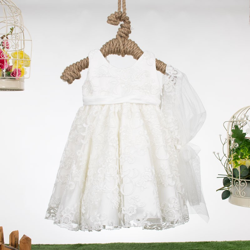 Φόρεμα Βάπτισης 132 white by bomboniera (12-24 Μηνών)