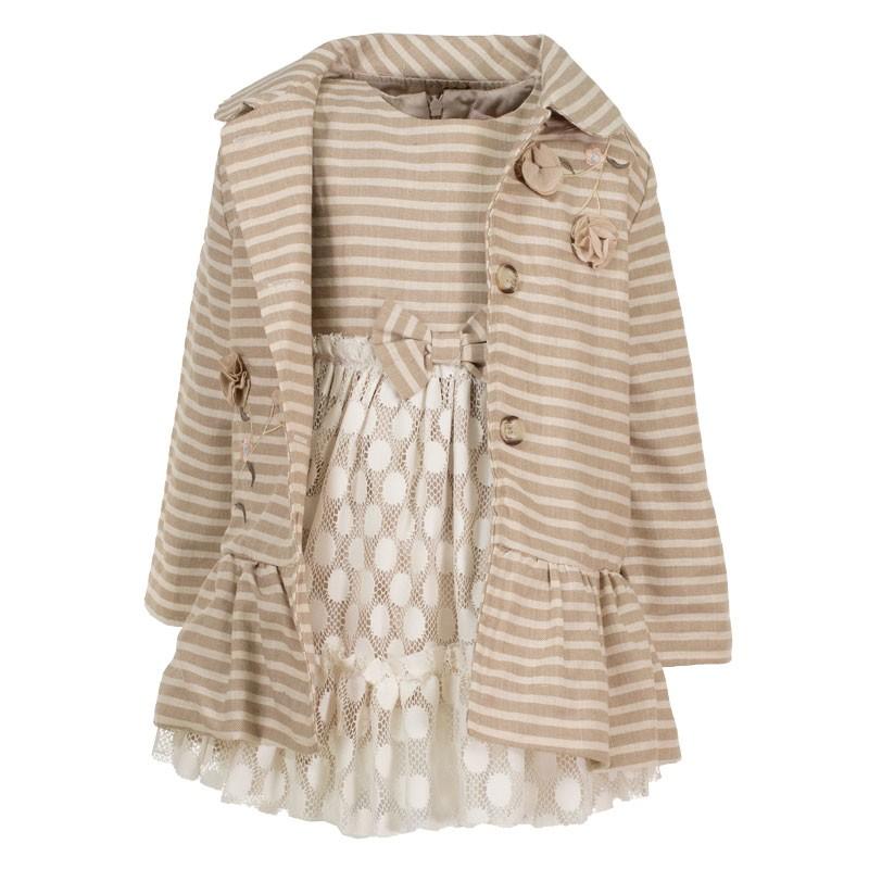 Φόρεμα με Καπαρντίνα 3091 (1-4 ετών)