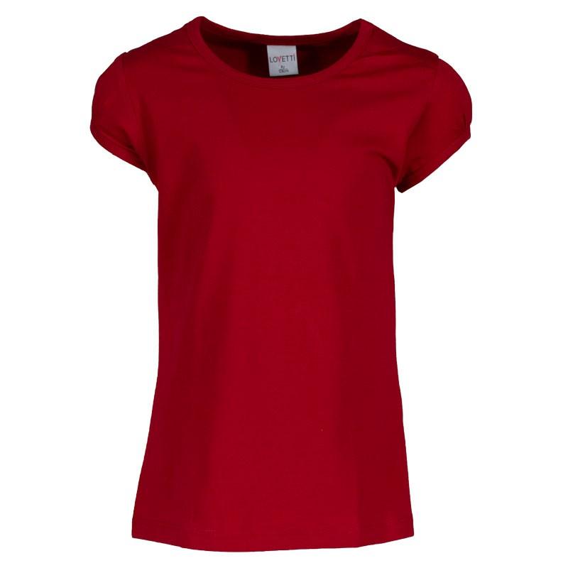 Μπλουζα basic 31008 κορίτσι (1-16 ετων) κόκκινο