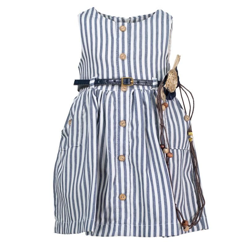 Φόρεμα ριγέ 3126 (1-4 ετών)