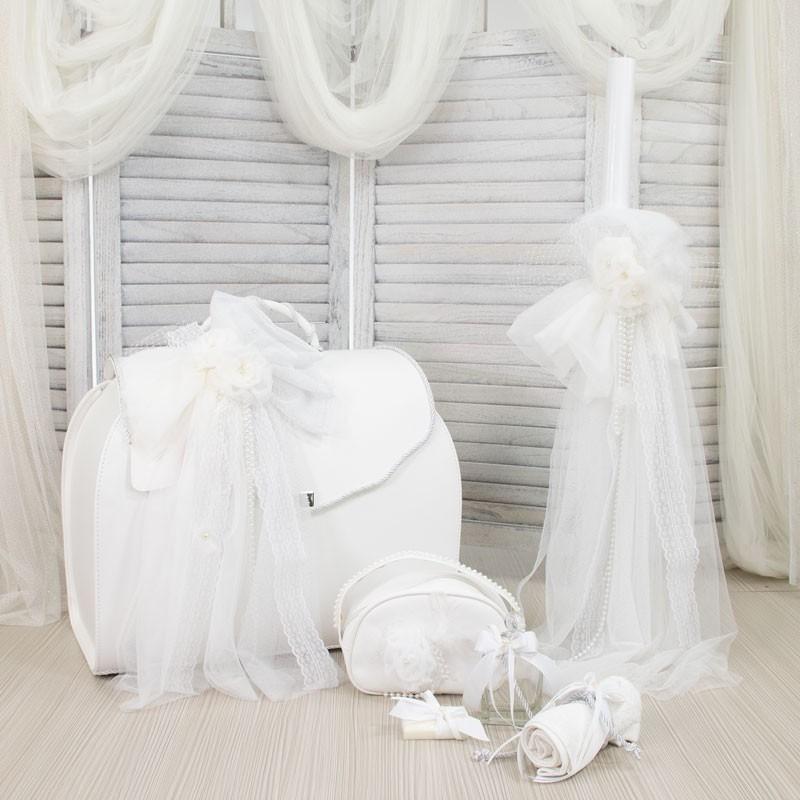 Οικονομικό Πακέτο Κορίτσι Makis Tselios 161 Δερμάτινη Βαλίτσα White