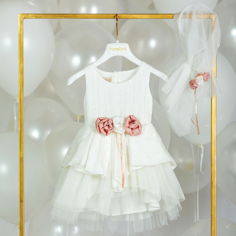Φόρεμα Βάπτισης piccolino ofelia 20s10(2 χρώματα)