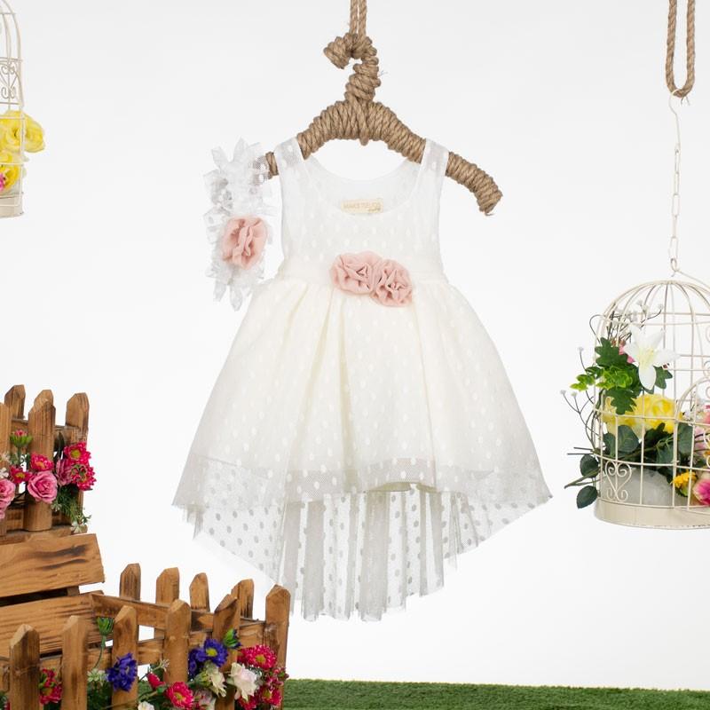 Φόρεμα Βάπτισης 9381 Makis Tselios(12-24 Μηνών)