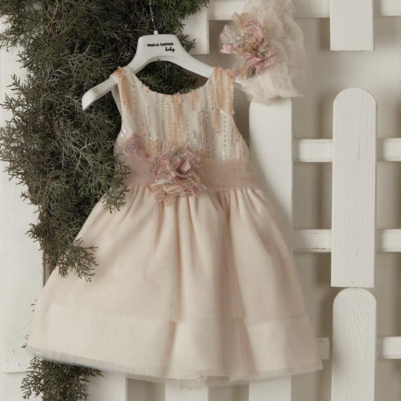 Φόρεμα Βάπτισης 9437 Makis Tselios(12-24 Μηνών)