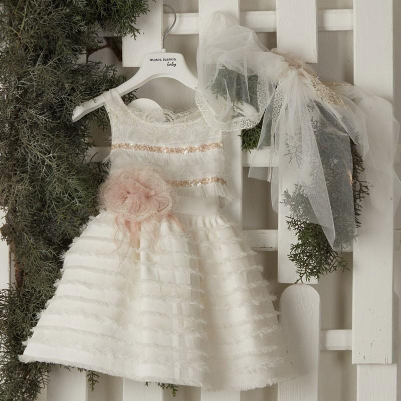 Φόρεμα Βάπτισης 9420 Makis Tselios(12-24 Μηνών)