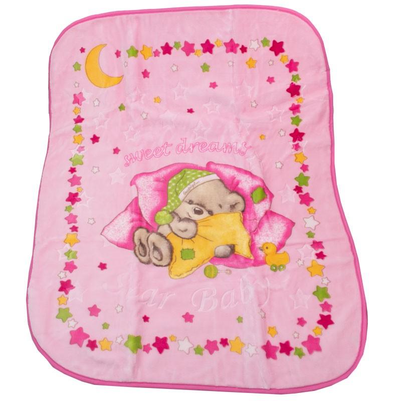 Κουβέρτα 33183 βελουτέ  (124x97 cm)