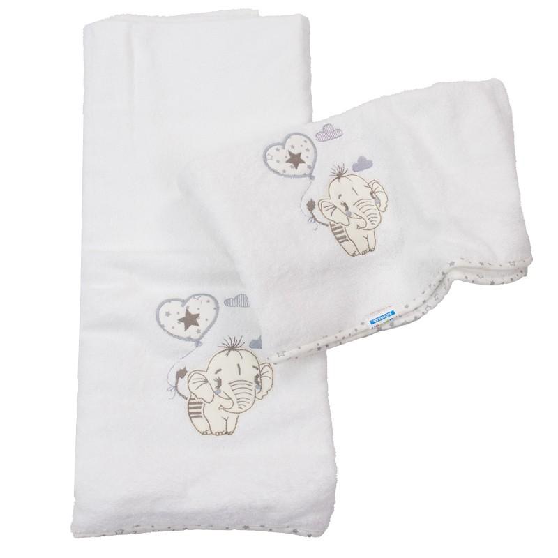 Σετ πετσέτες 2τμχ. ελεφαντάκι 3653 (110x75 & 80x50)