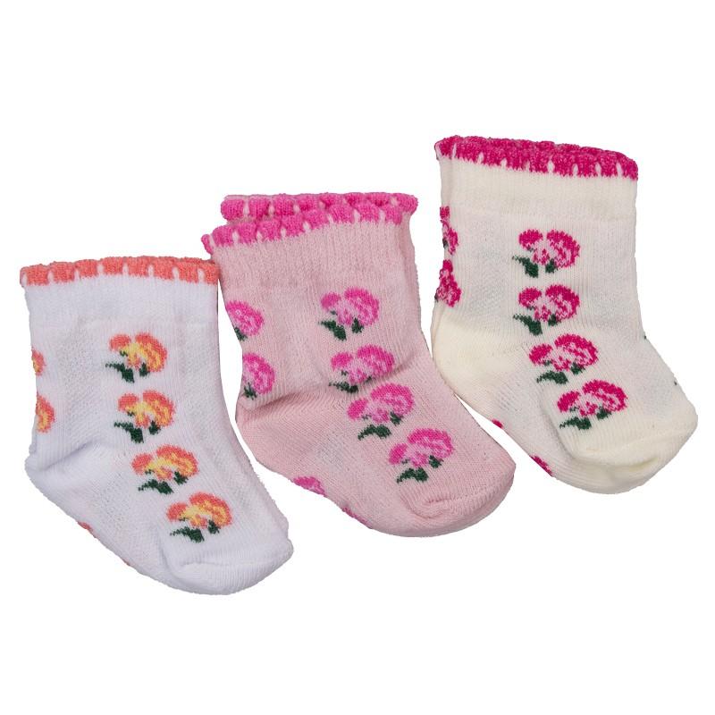 Βρεφικές κάλτσες λουλουδάκια  8067 Νεογέννητο