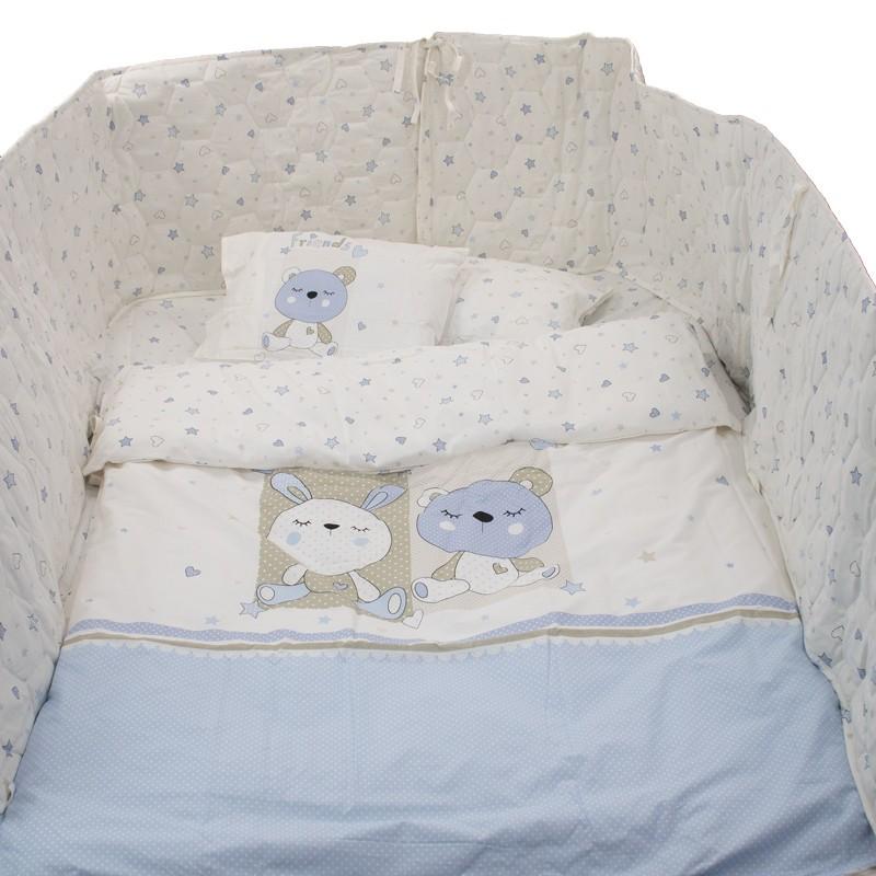 Σετ Βρεφικού Κρεβατιου Happy Rabbit Blue 905325