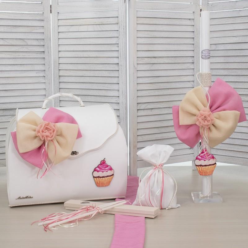 Οικονομικό Πακέτο Κορίτσι Makis Tselios 177 Βαλιτσα Δερμάτινη Cupcakes