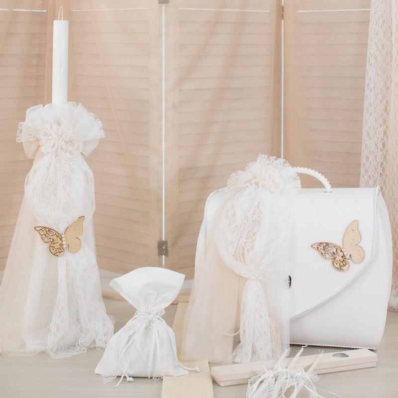 Οικονομικό πακέτο Κορίτσι Makis Tselios 170 Πεταλούδα Δερμάτινη Βαλίτσα