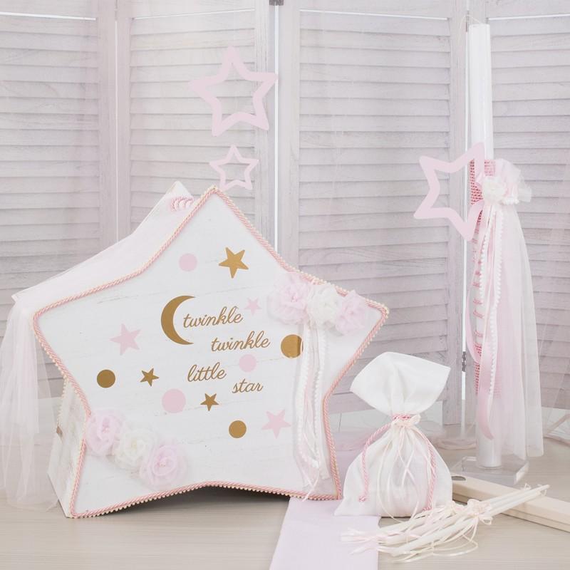 Οικονομικό πακέτο Κορίτσι Makis Tselios 172  Ροζ Αστέρι Ξύλινο