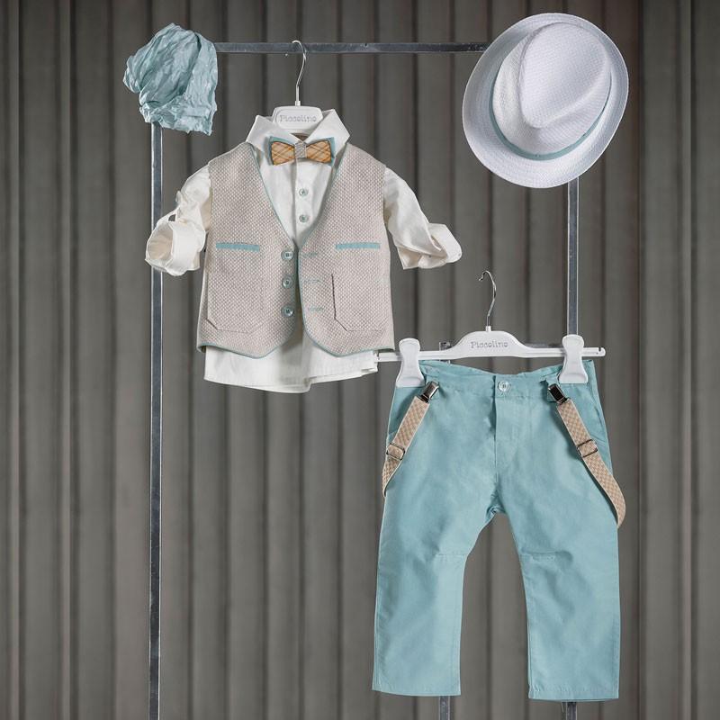 Κοστούμι Βάπτισης Piccolino Wando Mint AG20S02