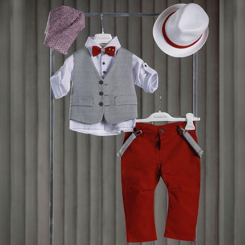 Κοστούμι Βάπτισης Piccolino Lando Red AG20S23