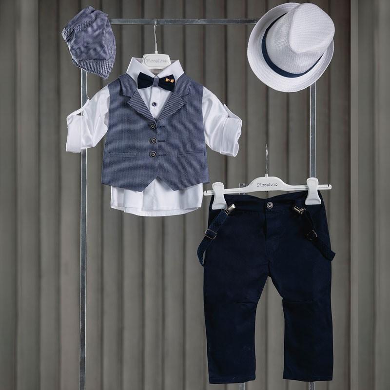Κοστούμι Βάπτισης Piccolino Dario Blue AG20S24
