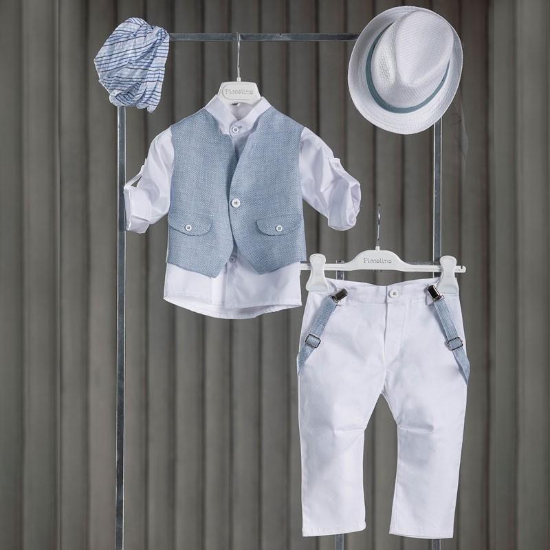 Κοστούμι Βάπτισης Piccolino Mao White AG21S34