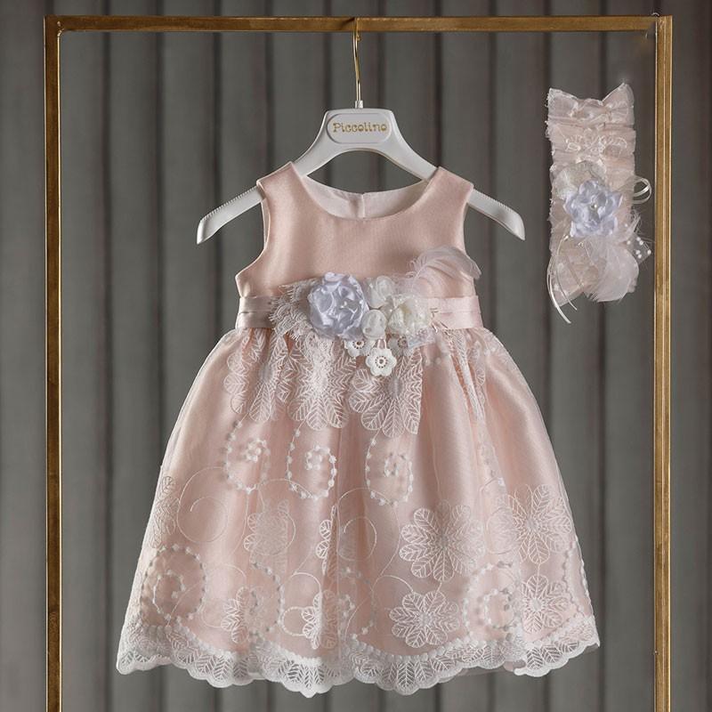 Φόρεμα Βάπτισης piccolino Violetta Puce DR20S11