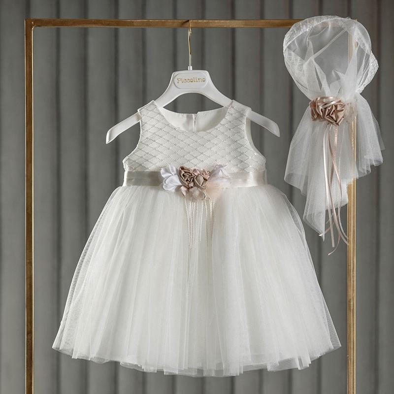 Φόρεμα Βάπτισης piccolino Nicole Ivory DR20S20
