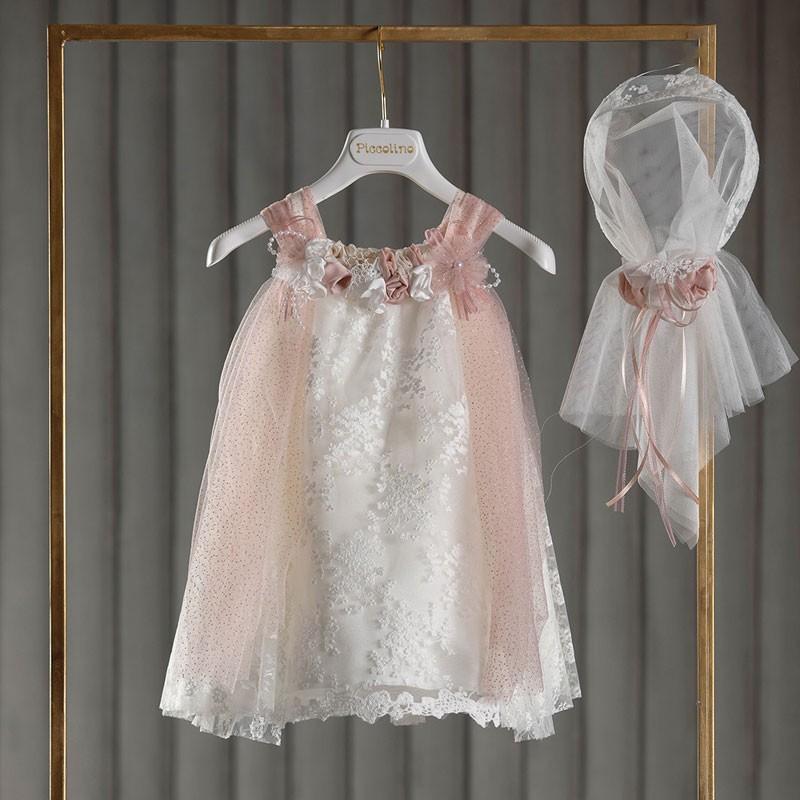 Φόρεμα Βάπτισης piccolino Tuliana Puce DR20S33