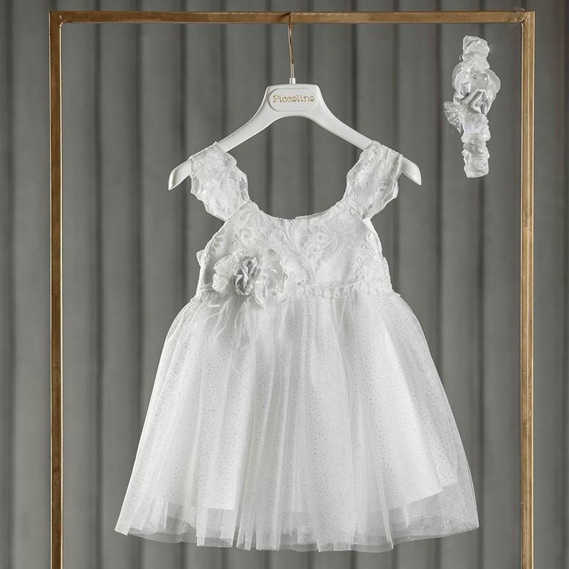 Φόρεμα Βάπτισης piccolino Denise Off White DR21S42