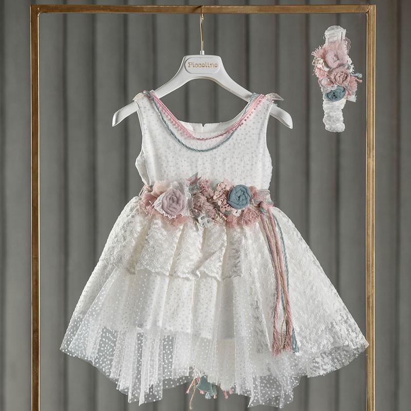 Φόρεμα Βάπτισης piccolino Elsa Ivory DR21S43