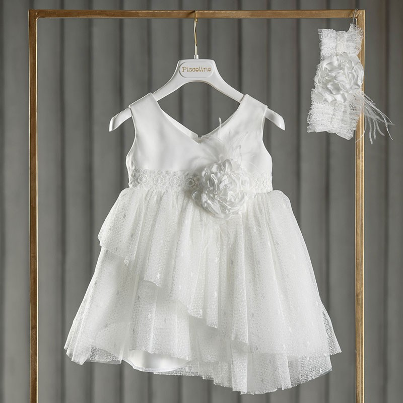 Φόρεμα Βάπτισης piccolino Martina Ivory DR21S48