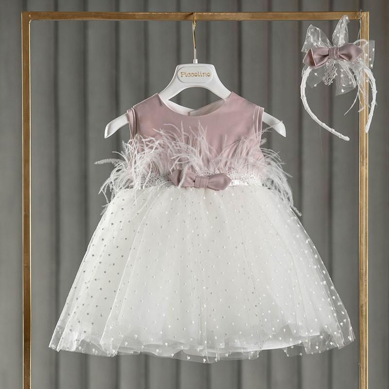 Φόρεμα Βάπτισης piccolino Monica Powder DR21S51