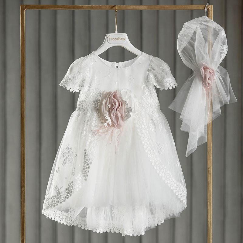 Φόρεμα Βάπτισης piccolino Daphne Ivory DR21S52