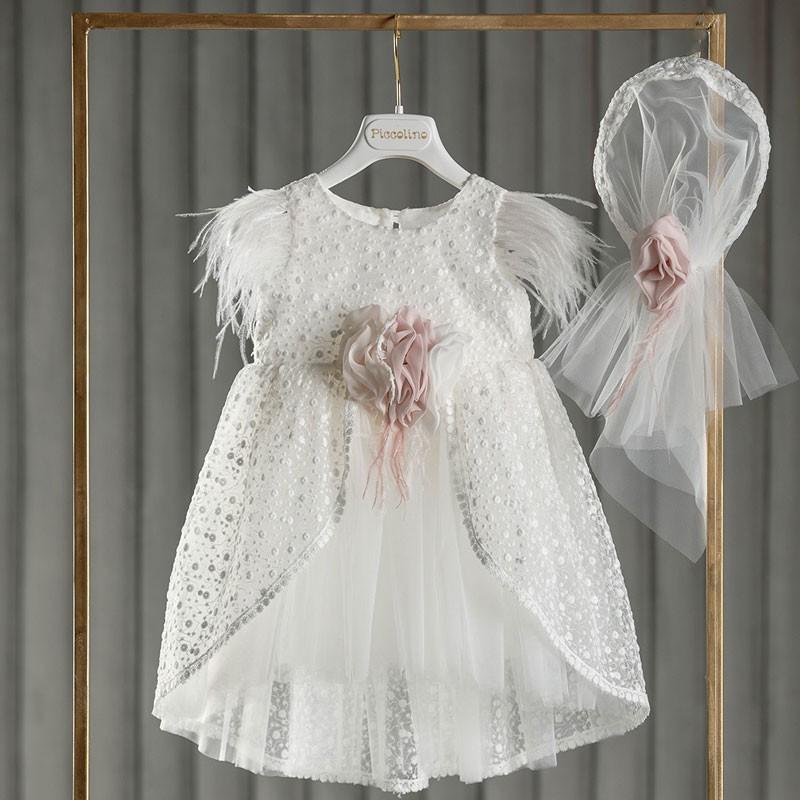 Φόρεμα Βάπτισης piccolino Eva Ivory DR21S62