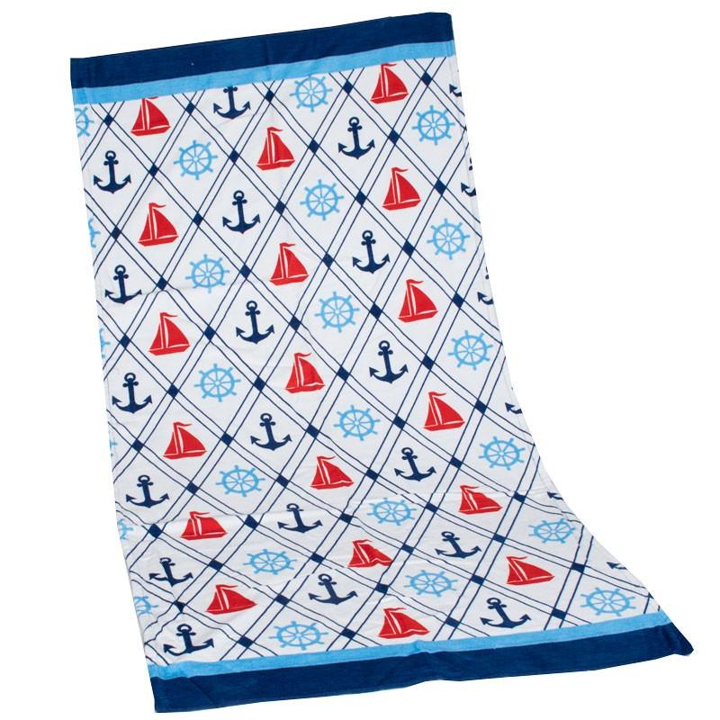 Πετσέτα θαλάσσης ναυτικό 102080