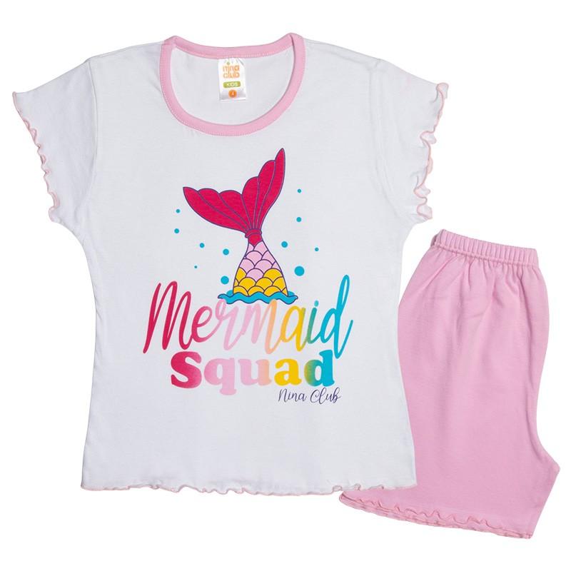 Πυτζάμα 151 κορίτσι Mermaid (1-10 ετών)