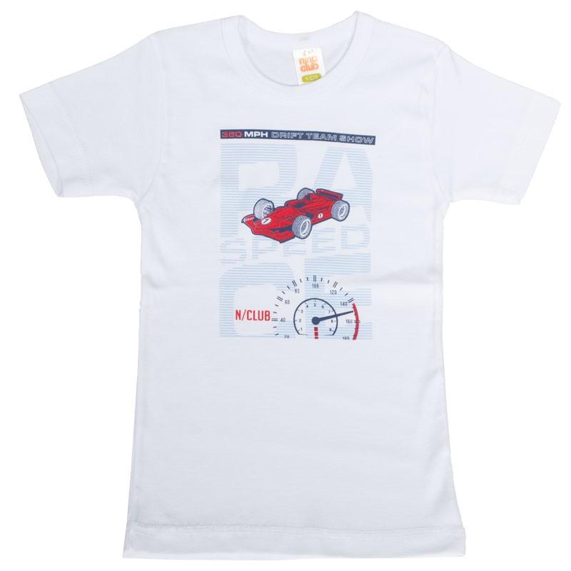 Παιδικό Φανελάκι 94 nina club (2-8 ετών)Λευκό αυτοκίνητο