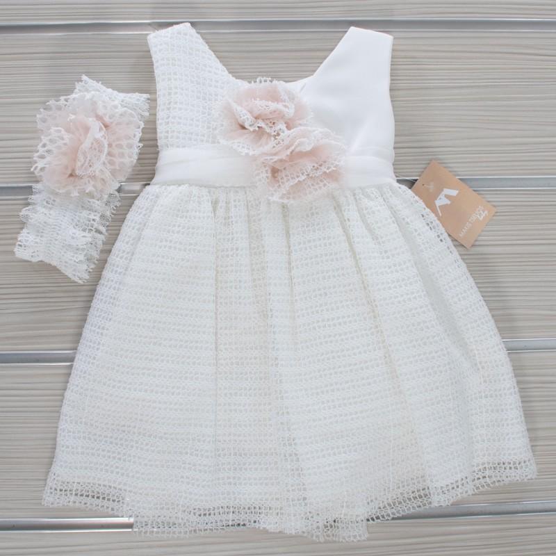 Φόρεμα Βάπτισης 20MT753 Makis Tselios(12-24 Μηνών)