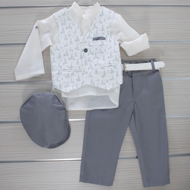 Κοστούμι Βάπτισης 21MT326 Makis Tselios Baby (12-24 Μηνών)
