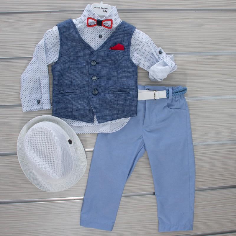 Κοστούμι Βάπτισης 21MT52 Makis Tselios Baby (12-24 Μηνών)